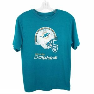 NFL Miami Dolphins Graphic Tee Teal Short Sleeve